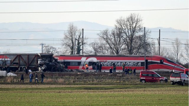 train accidenté italie